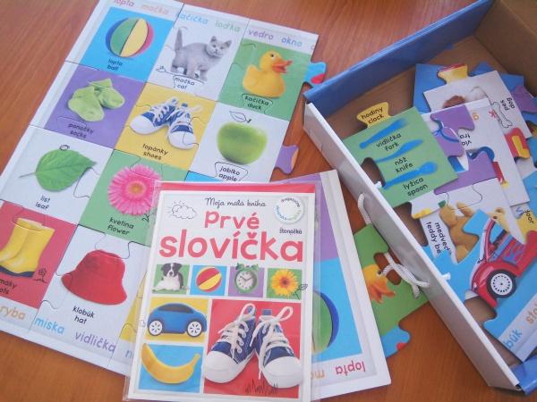 Prvé slovíčka veľké puzzle kufrík