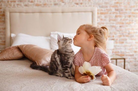 dieťa a domáce zvieratko